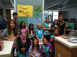 Troop 50786 - baked goodies and posters